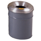 6 Gallon Gray Cease-Fire® Waste Receptacle Safety Drum Can w/Aluminum Head