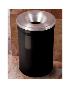 6 Gallon Black Cease-Fire® Waste Receptacle Safety Drum Can w/Aluminum Head