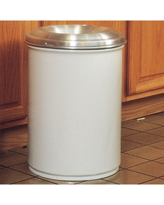 6 Gallon White Cease-Fire® Waste Receptacle Safety Drum Can w/Aluminum Head