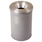 12 Gallon Gray Cease-Fire® Waste Receptacle Safety Drum Can w/Aluminum Head