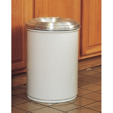 15 Gallon White Cease-Fire® Waste Receptacle Safety Drum Can w/Aluminum Head