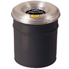 4.5 Gallon Black Cease-Fire® Ash/Cigarette Receptacle Drum w/Aluminum Head, Grill Guard