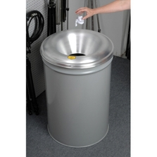 55 Gallon Gray Cease-Fire® Waste Receptacle Safety Drum Can w/Aluminum Head
