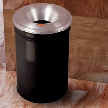 55 Gallon Black Cease-Fire® Waste Receptacle Safety Drum Can w/Aluminum Head