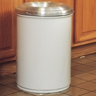 55 Gallon White Cease-Fire® Waste Receptacle Safety Drum Can w/Aluminum Head
