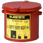 2 Gallon Red Countertop Oily Waste Can