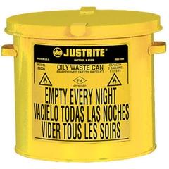 2 Gallon Yellow Countertop Oily Waste Can