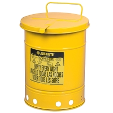 10 Gallon Yellow Oily Waste Can, Hand-Operated Cover (Safety)Back Reset Delete Duplicate Save Save and Continue Edit