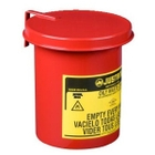 0.45 Gallon Red Oily Waste Mini Benchtop Can For Long Cotton-Tip Applicators, SoundGard™ Cover
