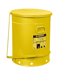 21 Gallon Yellow Oily Waste Can, 21 Gallon, Foot-Operated Self-Closing Cover