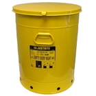 21 Gallon Yellow Oily Waste Can, Hand-Operated Cover