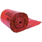 Red Liner Bags For Biohazard Waste Cans, 11 Microns Thick, 100/pk
