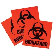 Label Kit For Biohazard Cans, 3 Labels & Instructions, Code Compliant for California