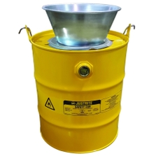 5 Gallon Yellow Drain Can w/Plated Steel Funnel