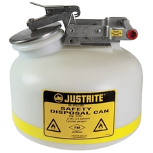 2 Gallon White HDPE Safety Can for Liquid Disposal