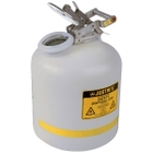 5 Gallon White HDPE Safety Can for Liquid Disposal