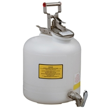 5 Gallon White HDPE Safety Can for Liquid Disposal, w/Faucet