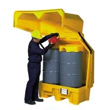 2-Drum Ultra-Hard Top P2 Spill Pallet (No Drain) - UltraTech 1082