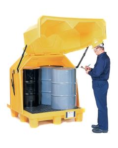 4-Drum Ultra-Hard Top P4 Spill Pallet (No Drain) - UltraTech 1080