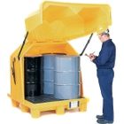 4-Drum Ultra-Hard Top P4 Spill Pallet (With Drain) - UltraTech 1081