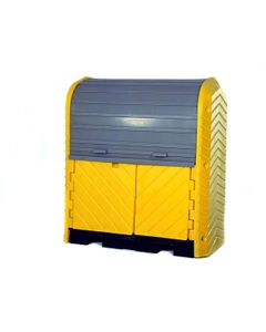 2-Drum Ultra-Hard Top P2 Plus Spill Pallet (With Drain) - UltraTech 9613