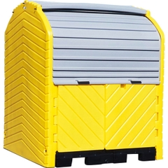 4-Drum Ultra-Hard Top P4 Plus Spill Pallet (No Drain) - UltraTech 9636
