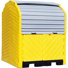 4-Drum Ultra-Hard Top P4 Plus Spill Pallet (With Drain) - UltraTech 9637