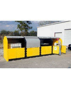 16-Drum Ultra-Hard Top P16 Plus Spill Pallet (With Drain) - UltraTech 9655