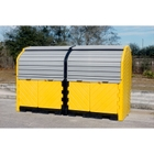 8-Drum Ultra-Hard Top P8 Plus Spill Pallet (With Drain) - UltraTech 9651