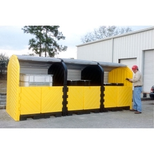 12-Drum Ultra-Hard Top P12 Plus Spill Pallet (With Drain) - UltraTech 9653