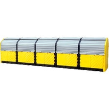 20-Drum Ultra-Hard Top P20 Plus Spill Pallet (With Drain) - UltraTech 9657
