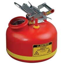 2 Gallon Red HDPE Safety Can for Liquid Disposal, w/Built-In Fill Gauge