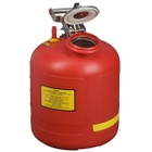 5 Gallon Red HDPE Safety Can For Liquid Disposal, w/Built-In Fill Gauge