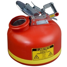 2 Gallon Red HDPE Safety Can for Liquid Disposal