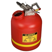 5 Gallon Red HDPE Safety Can for Liquid Disposal