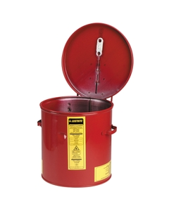 Dip Tank for cleaning parts, 2 gal, manual cover with fusible link, optnl parts basket, Steel, Red
