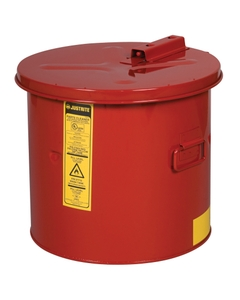Dip Tank for cleaning parts, 3.5 gal, manual cover w/fusible link, optnl parts basket, Steel, Red