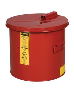 Dip Tank for cleaning parts, 5 gal, manual cover with fusible link, optnl parts basket, Steel, Red