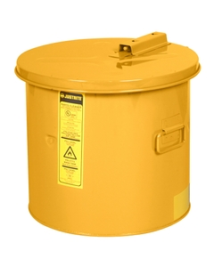 Dip Tank for cleaning parts, 19 litre, manual cover w/fusible link, optnl parts basket, Steel, Yellow