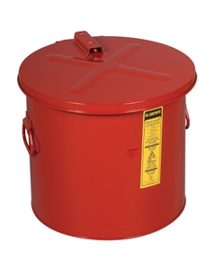 Dip Tank for cleaning parts, 8 gal, manual cover with fusible link, optnl parts basket, Steel, Red