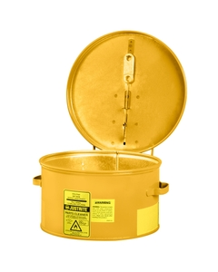 Dip Tank for cleaning parts, 1 litre, manual cover w/fusible link in case of fire, Steel, Yellow