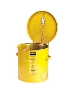 Dip Tank for cleaning parts, 8 litre, manual cover w/fusible link, optnl parts basket, Steel, Yellow