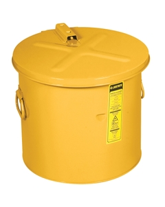 Dip Tank for cleaning parts, 30 litre, manual cover w/fusible link, optnl parts basket, Steel, Yellow