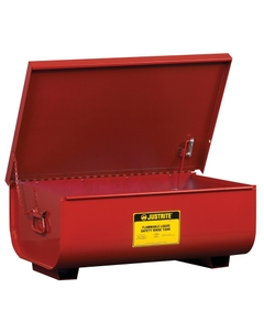 Rinse Tank, Benchtop, 11 gallon, lift-and-latch cover with fusible link, drain plug, Steel, Red