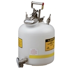 Disposal Can with faucet, Quick-Disconnect, S/S fittings for 3/8 tubing, 5 gallon, poly, White