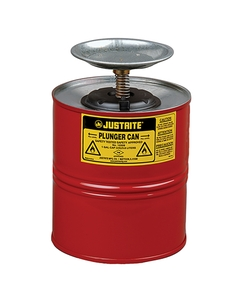 1 Gallon Red Steel Plunger Dispensing Can