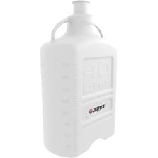 "40 Liter White PP Plastic Laboratory Carboy w/3"" Sanitary Neck"
