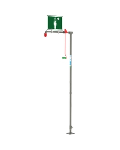 Drench Safety Shower, Floor Mount, Stainless Steel Pipe