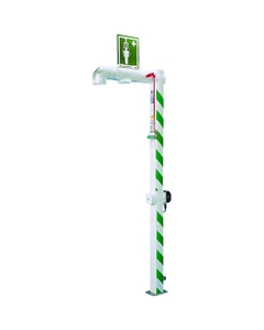 Freeze Protected Drench Safety Shower, Floor Mount, Galvanized Pipe, 120v, C1D2