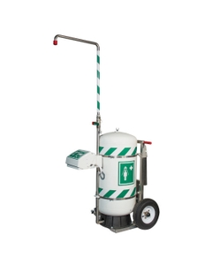 30 Gallon Mobile Self-Contained Emergency Safety Shower w/ Eyewash Station
